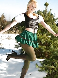 Joceline looking stunning in fraulein outfit with boots..