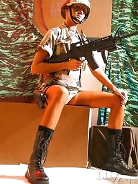 Classic stockings and army uniform