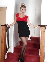 Saffy - Simple stairway tease!
