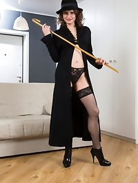 Dressing up in costumes is a sexy way for 41 year old mom..