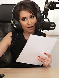 Gorgeous radio broadcaster Meggie takes a station break to..