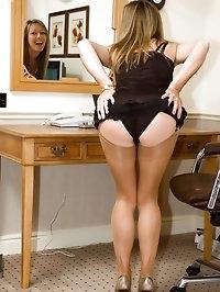 strip to the slip for lingerie lover