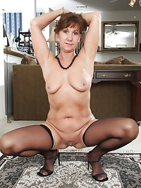 Elegant and 453 year old Lynn from AllOver30 slips off her..