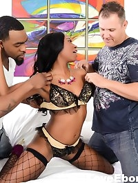 Ebony cutie Mocha Menage loves all cock