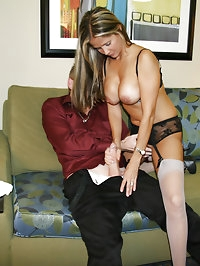 HotWifeRio gets dressed in her favorite stockings and..
