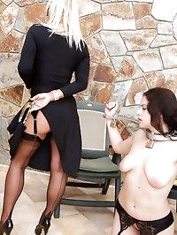 Lady Astrid & Mistress Annabelle punish naughty slave