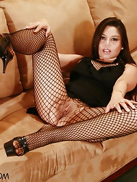 POV Fishnet Pantyhose Sex with Luccia